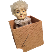 Papier Mache Doll Head Jack in the Box Antique Toy