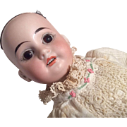 German Bisque Head Doll Jointed Wood Compo Antique Body