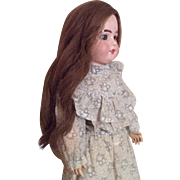 Lovely Antique Long Human Hair Doll Wig