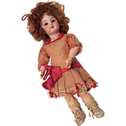 Gorgeous Simon Halbig German Bisque Doll Jointed Body Original Dress Hat Shoes