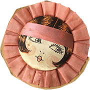 Deco French Flapper Silk Face Boudoir or Half Doll Type Dead