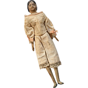 SALE Milliners Model Antique Papier Mache Doll Original Leather Body with Wood Hands Feet