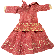 Beautiful antique doll dress with Belt
