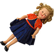 1950s Ideal Shirley Temple Doll Original Tagged Dress