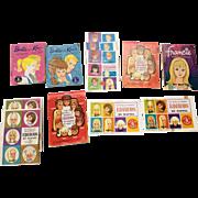 12 Vintage Barbie Doll Booklet Francie American Girl Casey Skipper Ken Tutti