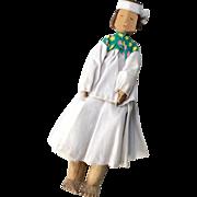 Interesting Vintage Carved Wood Native American Indian Doll