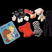 Vintage Mattel Barbie Doll 9 Pair High Heel Shoes Swim Suit and More