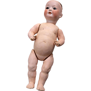Antique German Bisque Character Baby Doll Toddler Body TLC