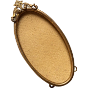 Vintage Miniature Brass Picture Photo Frame Doll Size Easel Back