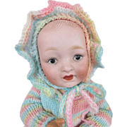 "Adorable 10 ½"" Bisque Head Character Baby on Composition Body, resembles Kestner, circa 191"
