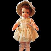 "Adorable Vintage 16"" Terri Lee Hard Plastic Handmade Dress, circa 1950s"