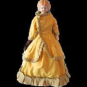 "Charming Antique 12"" German Blonde Shoulderhead, circa 1880"