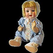 "Cute Antique 9 l/2"" German bisque head baby, Heubach Koppelscorf"