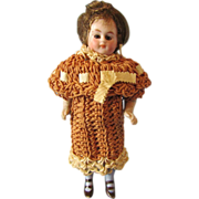 "Fabulous 4 l/2"" German Marked All-Bisque Child Doll, 1910"