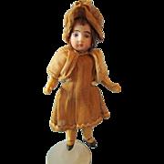 "Antique French Market 5"" Antique All Original Marked Bisque Head Child Doll, circa 1915"