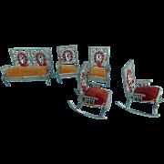 Fabulous Set of Antique Horseshoe Fairy Dollhouse Furniture