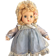"Darling Vintage All Original Madame Alexander 14"" Composition Little Genius tagged Dress"