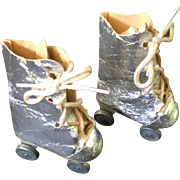 """Silver Roller Skates for 16""""/18"""" Doll"""