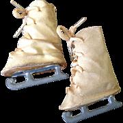 """1940/1950's Ice Skates for 14"""" Doll"""