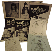 Group of 10 Patterns for Doll Clothes