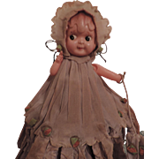 SOLD Crepe Paper Dressed  Celluloid Carnival Doll