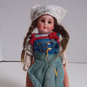 """SALE 5"""" Original Painted Bisque Head Regional Doll on 5 Pc. Body"""