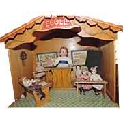 """ECOLE"" Miniature French Classroom - Complete with Teacher,  6 Students, Desks, Etc."