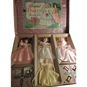 REDUCED Bridal Party Dolls Sewing Kit, Hasbro, 1930/40's