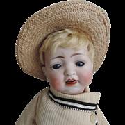 """Precious 14"""" Bisque Head Boy, 152, with His Bucket!"""