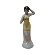 REDUCED 3-3/4 In. German Pink Tint Bisque Bathing Beauty