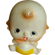 """Adorable Porcelain """"Flat Head"""" Character Baby"""