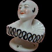 2-1/4 In. Pierrot Half Doll or Pincushion Doll