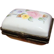 1-3/4 x 1-1/2 In. Hand Painted Porcelain Sewing Box for Doll