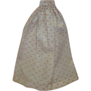 Antique Cotton Day Skirt for Fashion or Other Lady Doll
