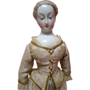 REDUCED 17 In. Antique Nymphenburg China Shoulder Head Lady