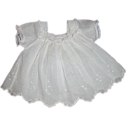 Factory Original Lace-Trimmed Dress for Antique Doll 10-11 In.