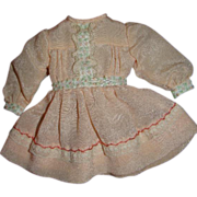 Beautiful Well-made Vintage Silk Dress for 7-8 Inch Doll