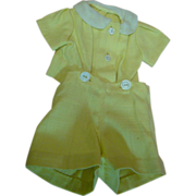Adorable Vintage Two-Piece Short Suit for a Baby or Toddler