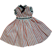 "Original Crispy Factory Dress Tagged ""Vogue Doll"" for Hard Plastic Jill 1957"