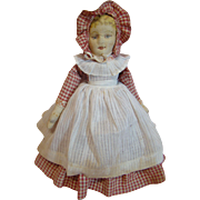 Beautiful Original Bruckner Rag Doll Topsy Turvy Mask Face, Clean and Bright Facial Features,
