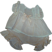 Cute Vintage Factory Two-Piece Outfit for a Toddler or Baby Approximately 12-13 Inches in Leng