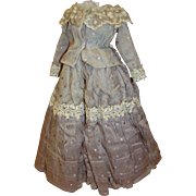 Antique Two-Piece Walking Suit for French Fashion Approximately 17-19 Inches