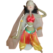 10.5 In. Klumpe Cloth Mask Face Doll Harem Dancer, Made in Spain, Distributed by ...