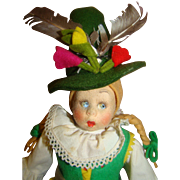 9.5 In. (Not Including Hat) Tagged Twice Lenci Mascotte, Original Felt and Cotton Costume ...