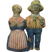 16 In. Aunt Jemima and Uncle Mose Cloth Advertising Dolls for Aunt Jemima Cornmeal; Great ...
