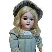 Beautiful 19 In. Brown Eyed Blonde German Heinrich Handwerck Mold #119, Nicely Dressed, Priced