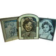Lot of Three (3) Vintage Framed Photographs of Shirley Temple, Child Actress, Two Signed
