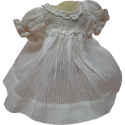 Lovely White-on-White Stripe Design Cotton Doll Dress, Factory Made, High Waist with Short ...