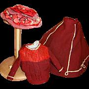 Original Two-Piece Ensemble for a French or German Fashion Doll