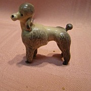 Miniature Porcelain Poodle for All Bisque or French Fashion Dolls